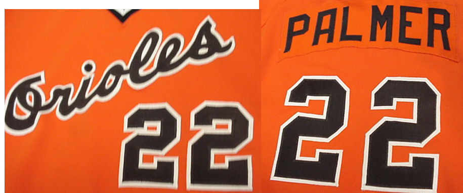 cc1a87b06 This gorgeous orange O s jersey is trimmed in black and was worn by this  HOFer during