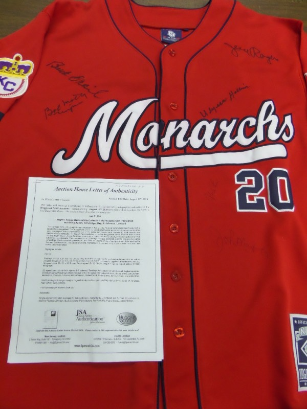 hot sale online bfd62 16dd6 This awesome piece is a custom red  20 Kansas City Monarchs jersey that  comes to
