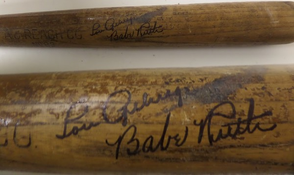 "This 34""  vintage Reach bat is in G/VG shape overall with aging/handling/usage evident. It has been signed WONDERFULLY across the barrel in black inks by BOTH of these legendary Yanks.  It is a #83 and comes with a signed COA from renowned NY-based collector Barry Halper for authenticity purposes. Retail is well into the 5 figures easily."