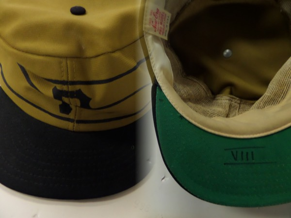 "This impossible find is a vintage 1970's team cap and tagegd right on the inside by New Era. It is a Pro-Model, has ""VIII"" written under the brim, and shows lot of game usage and sweat from ""Pops"", the HOF slugger. Great piece, super high value, and as always, sold here with NO reserve!"
