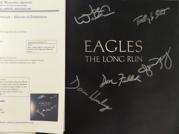 Coach's Corner - EAGLES band signed/appraised/certified