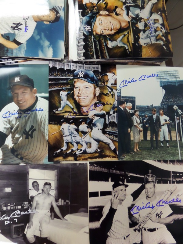 This one of a kind dealer's chance is just north of ONE HUNDRED FIFTY Mickey Mantle 8x10 photos, and EACH and every one is hand-signed by the Yankees all time great himself.  Lots of different, iconic, and terrific shots here, and each can easily retail well into the hundreds by itself, so you do the math here!!!!