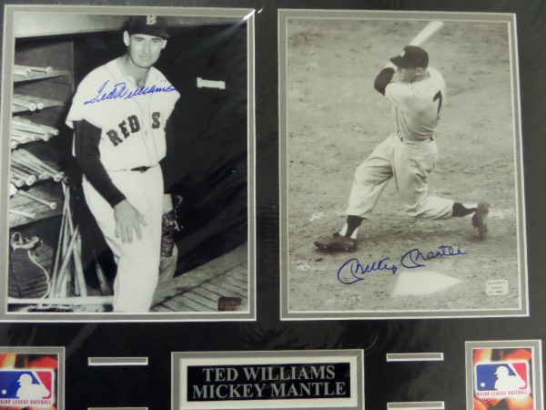 "This GORGEOUS piece measures 16""x20"" after professional matting and holds 2 signed 8x10's--1 each from these 2 deceased HOFers.  A nice placard is included and each photo comes hologrammed and certified by PSS for authenticity purposes. Can frame up or keep as is and show off proudly!"