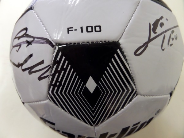 "This official sized Franklin  ball is black and white and is PERFECT for the International Soccer fan!  It comes signed perfectly in black sharpies by the 2 best players for the last 10 years and each has included his respective number and Messi even included ""LEO"".  Guaranteed authentic and ideal for display. WOW"
