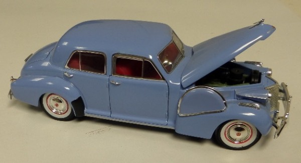 "This STUNNING collector's item is part of the July 2019 Coach's Corner ""Carfest!""  It is a MINT 1:32 scale beautiful replica of a 1940 Fleetwood Special 60, with fabulous attention to detail, and sits in a NM lucite case for display.  A MUST for collectors, and retail is into the hundreds!"