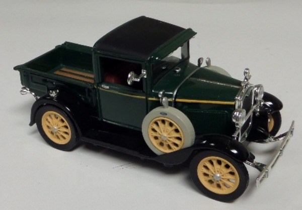 "This STUNNING collector's item is part of the July 2019 Coach's Corner ""Carfest!""  It is a MINT 1:32 scale beautiful replica of a 1931 Ford Model A Pickup Truck, with fabulous attention to detail, and sits in a NM lucite case for display.  A MUST for collectors, and retail is into the hundreds!"