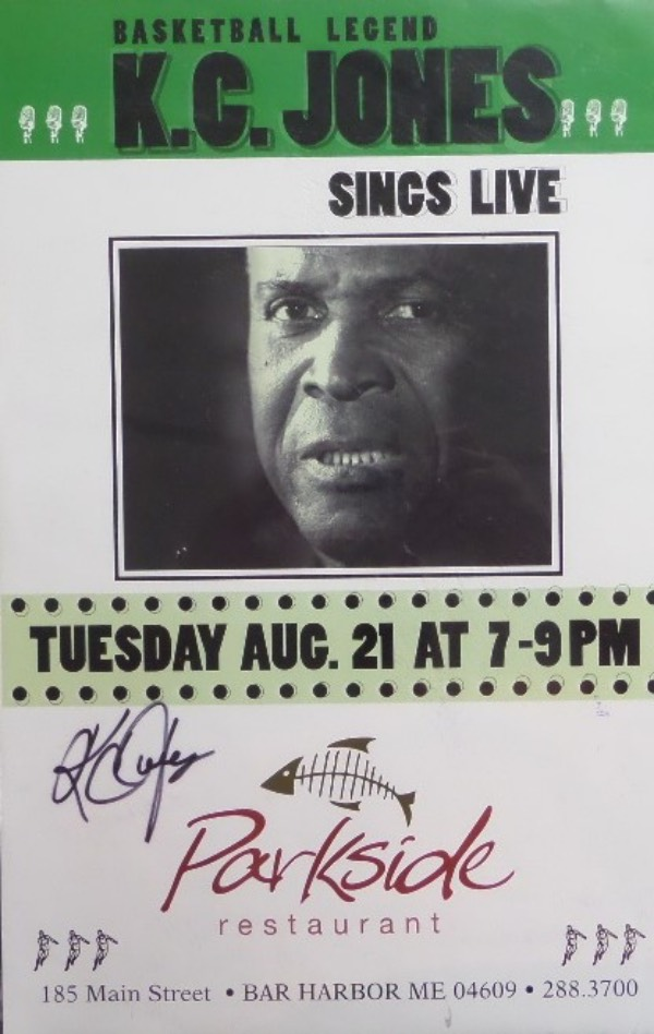 "If you are a HOF Celtics collector or dealer, you'll want to get in on this RARE collector's item.  It is an original ""Basketball Legend KC Jones Sings Live"" 11x17 promo poster for the Parkside Restaurant, hand-signed in black sharpie by the HOF great himself.  This is a real beauty, quite obviously personally-obtained, and will look simply fantastic when framed for display. A MUST for Celtics faithful!"