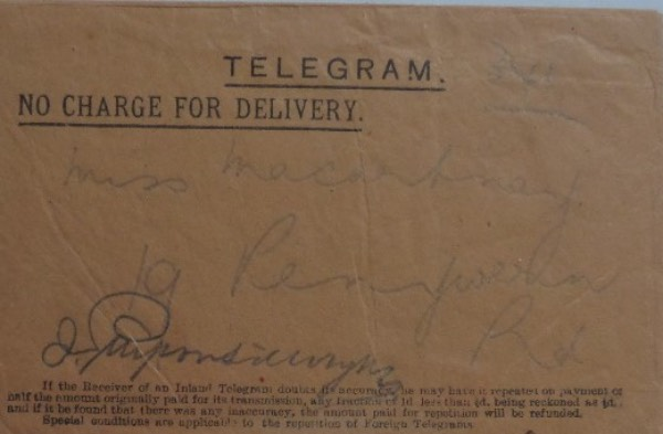 Pretty sure that in 12 years, I've never seen an item signed by this man.  This is a very old telegram envelope, still completely intact, and in EX condition, measuring about 3.25x5 in size.  It is hand-signed in pencil by the early 20th century banker and captain of industry himself, and with Morgan deceased now more than a century, retail is thousands!