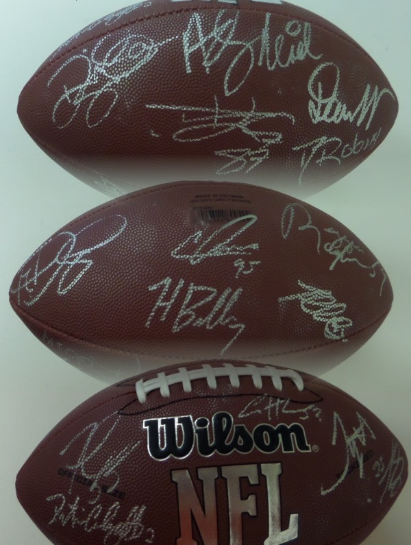 This Wilson NFL ball is mint and comes signed in silver by approx. 18 members of this Super Bowl winning squad!!!  I see all of the big names included here and the ball is guaranteed authentic. Included are Coach Reid, Mahomes, Kelce, D.Williams, T.Hill, Watkins, Suggs, Butker, Sorensen, Mathieu, Ragland, C.Jones,etc!!  The ball retails now into the thousands and is guaranteed authentic! WOW
