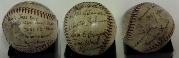 This amazingly rare ball is a red & black laced Official American League Special Baseball that has the unique Official All Star stamping on it and is in Fair shape overall with obvious age/usage evident.  It comes signed by GORGEOUSLY by 14 individuals(13 players and the sig. of AL President Ban Johnson included also).  It also has special notations from the game included and the sig's include Ty Cobb, Nap Lajoie, Herman A.Schaefer, Cy Young, Eddie Collins, Sam Crawford, Frank Baker, Walter Johnson, Joe Wood Hal Chase, Roderick Wallace, Tris Speaker, & even Joe Jackson on the sweet spot! WOW sums it all up!