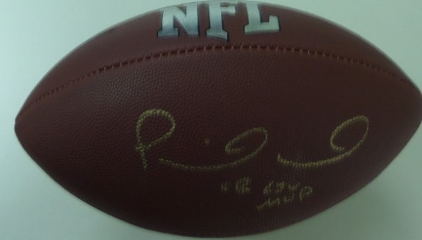 "This mint Wilson NFL football comes signed superbly in gold by the best player in the NFL today and he has even included ""SB LIV MVP!!  Guaranteed authentic and retails in the high hundreds and going up as he continues to win!"