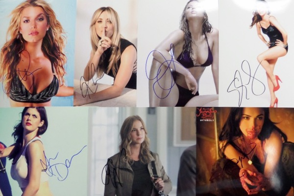 This high volume and high value grouping is FIFTY different 8x10 photos of SEXY female stars, and each is hand-signed by the fiery femme pictured.  Included are Jennifer Love Hewitt, Helen Hunt, Jessica Simpson, Elizabeth Banks, Rosamund Pike, Mary Louise Parker, Jennifer Lawrence, Amy Adams, Christina Aguilera, Kaley Cuoco, Eva Longoria, Alexandra D'Addario, Charlize Theron, and many more.  A super duper group lot here, and retail is thousands!